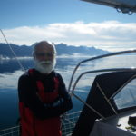 Dilip in Greenland with Sir Robin Knox-Johnston for India's first solo circumnavigator Dilip Donde