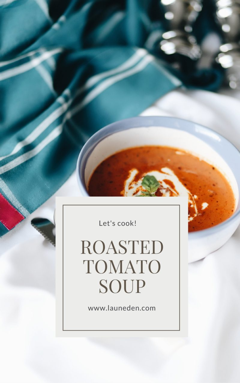 Let's cook - Roasted tomato soup with mascarpone and basil - Launeden
