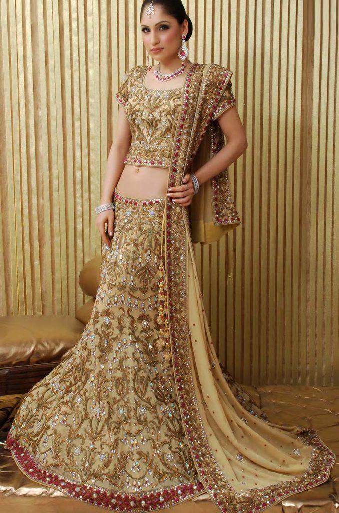 Fishtail Lehenga Bridal Party Wear Dress