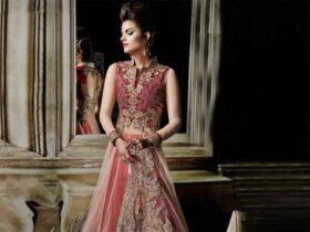 Net Lehenga Bridal Party Wear Dress