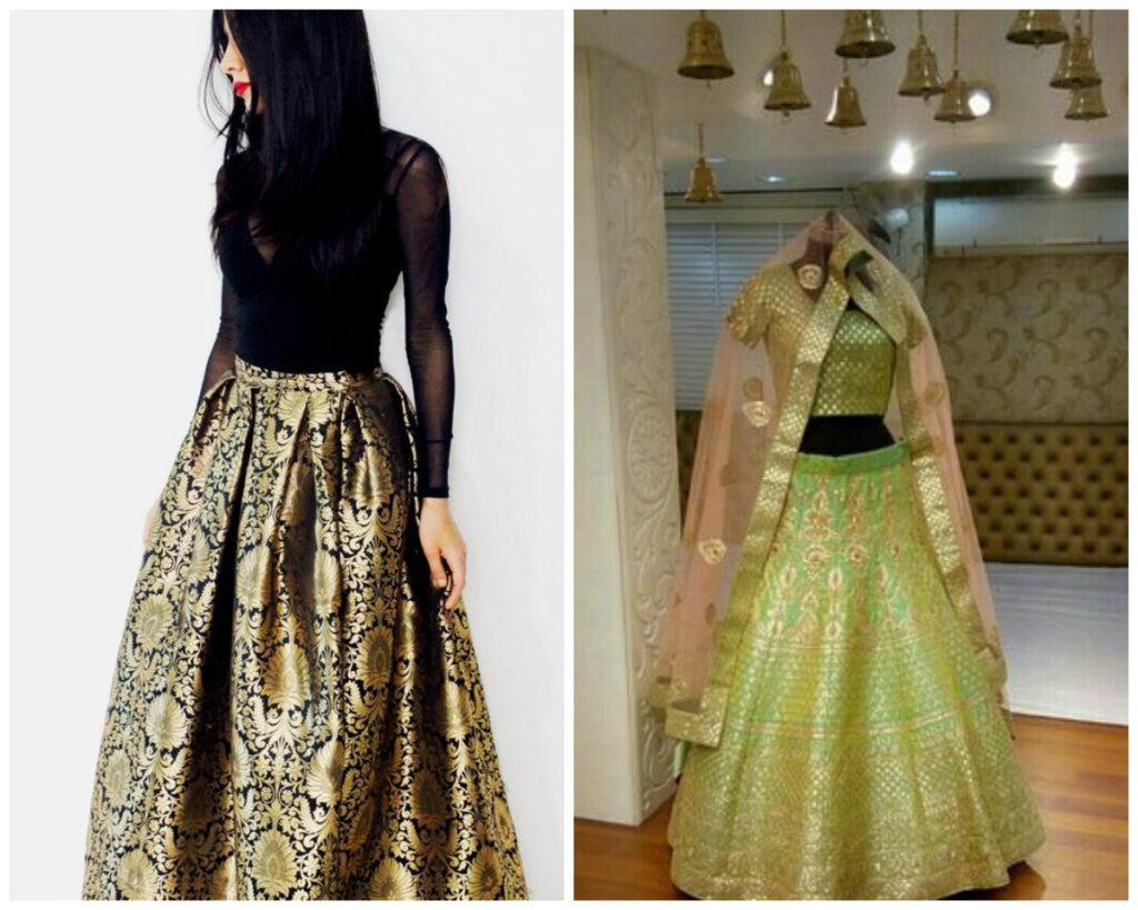 Tall women bridal leehnga dress designs