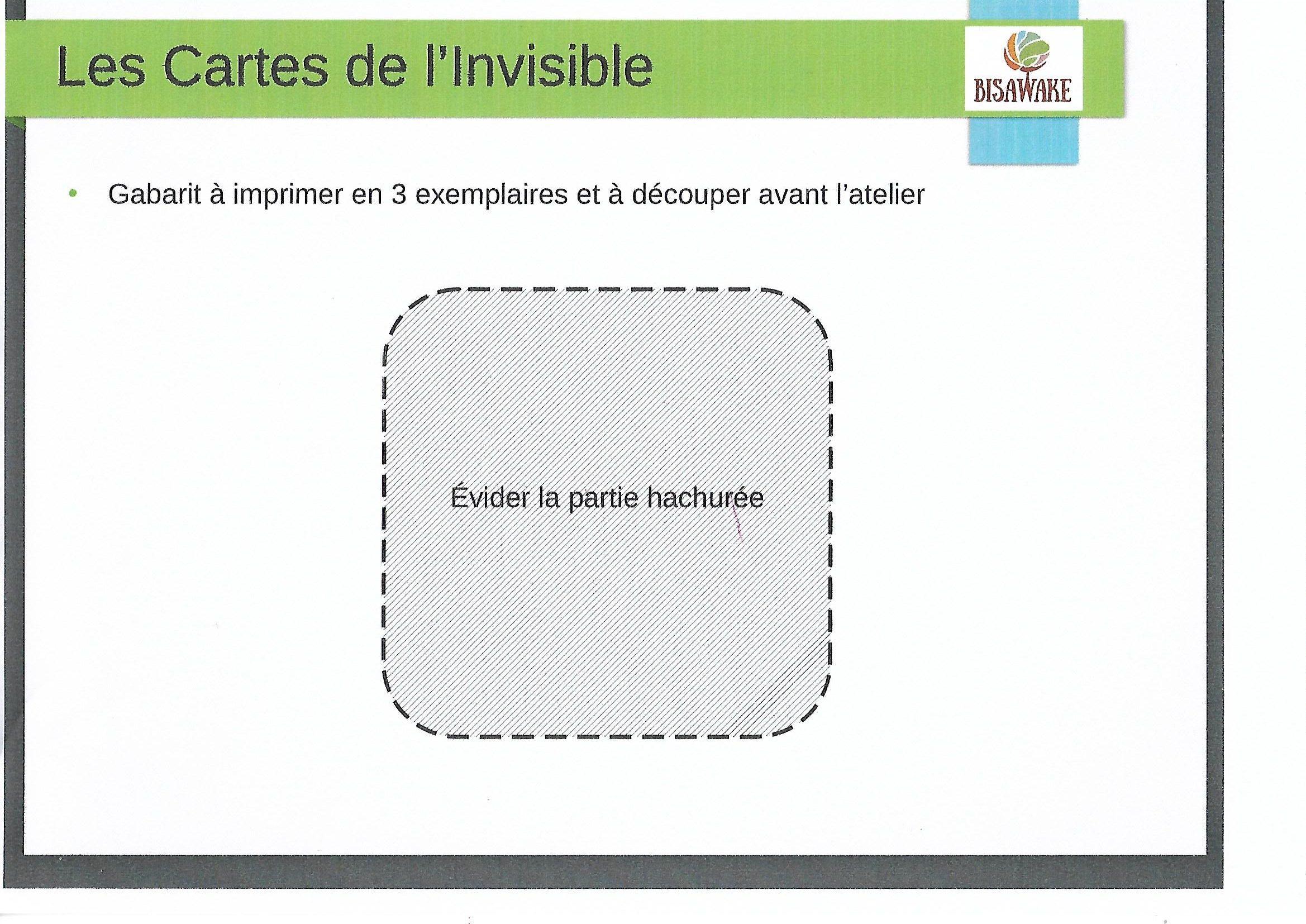 Gabarit Cartes de l'Invisible