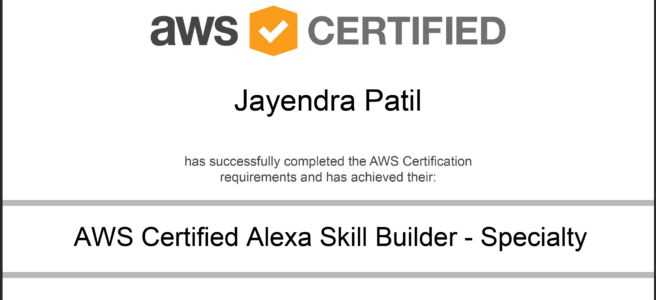 AWS Certified Alexa Skill Builder - Specialty Certificate