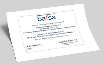 Cannon Fire Sprinklers Secures BAFSA Membership