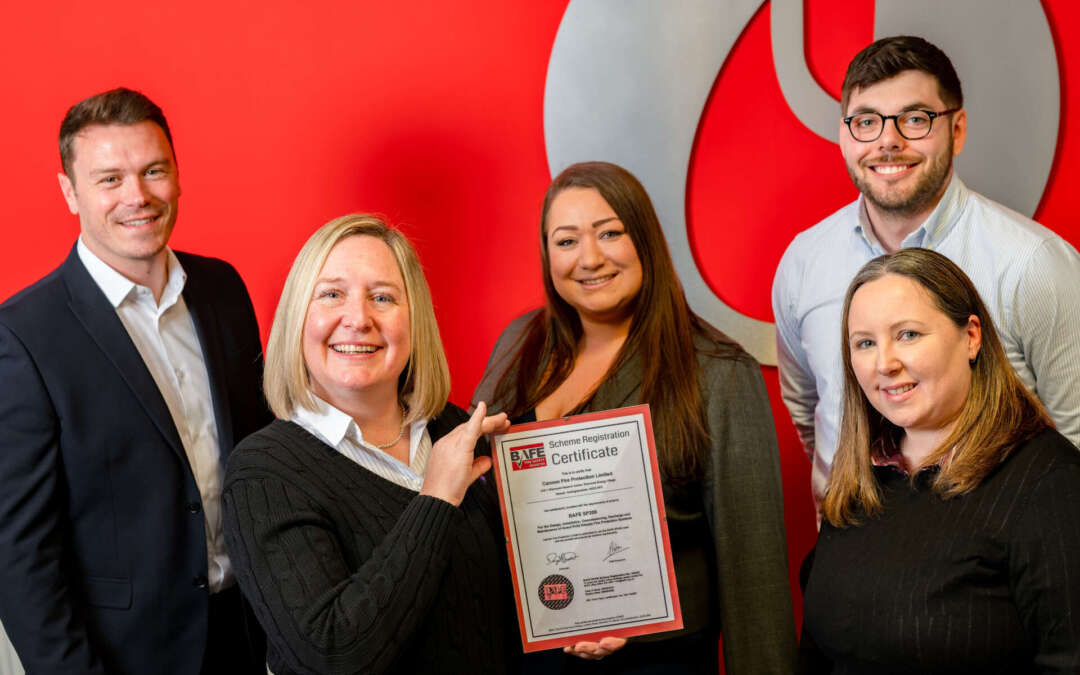 Cannon Fire Protection Awarded New BAFE SP206 Scheme Certificate