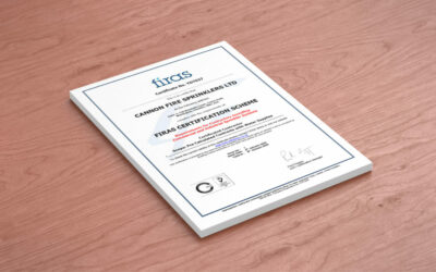 Cannon Fire Sprinklers successfully achieves FIRAS Certification