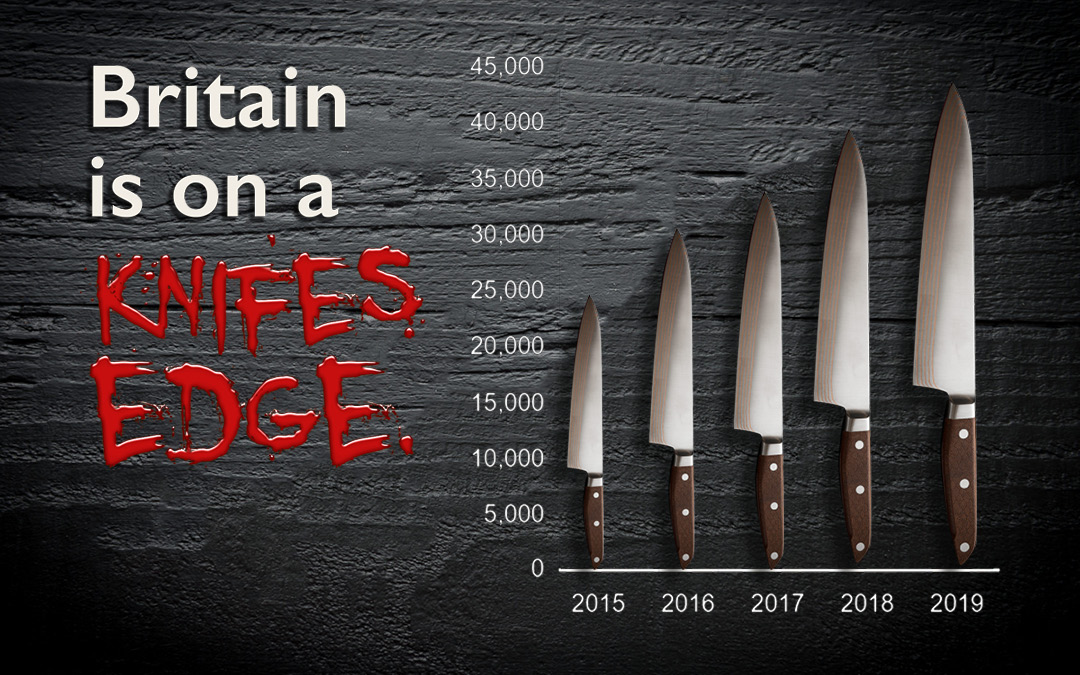 UK sees dramatic increase in knife-crime