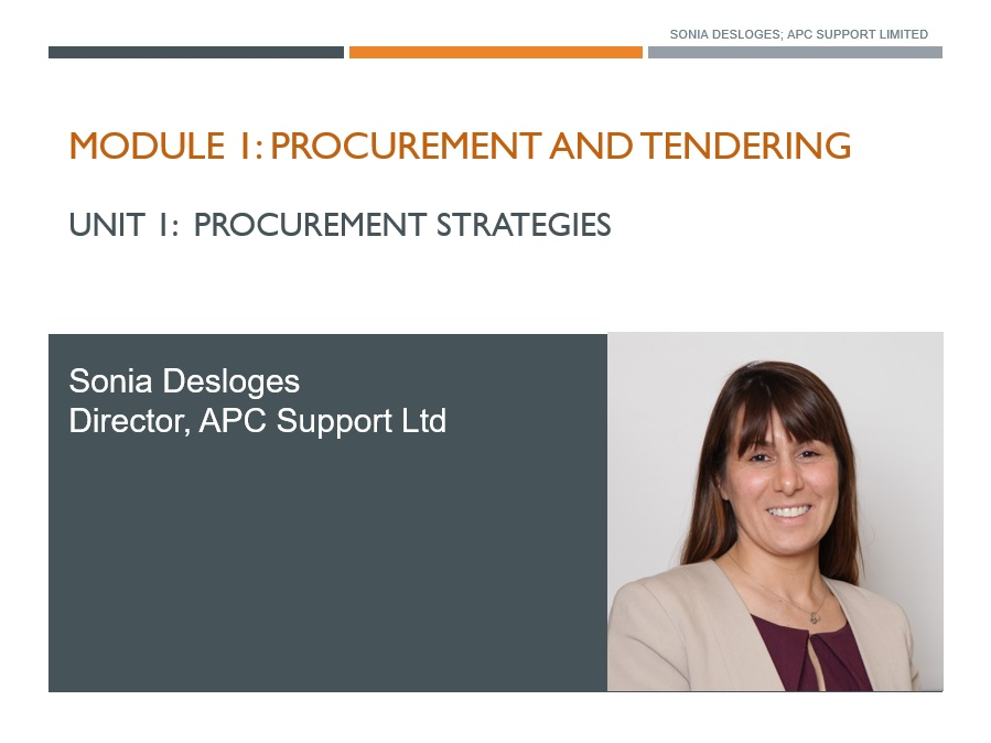 Procurement and tendering