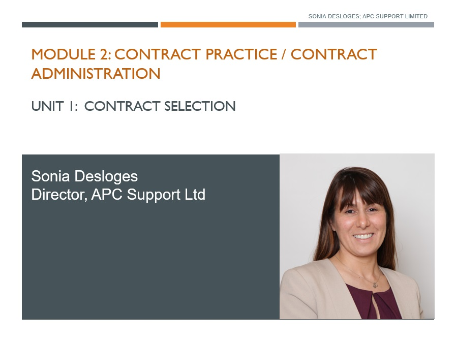 Contract Practice, Contract Administration