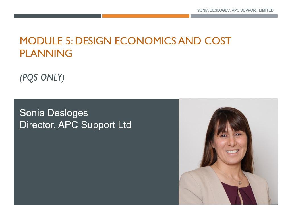 Design Economics, Cost Planning