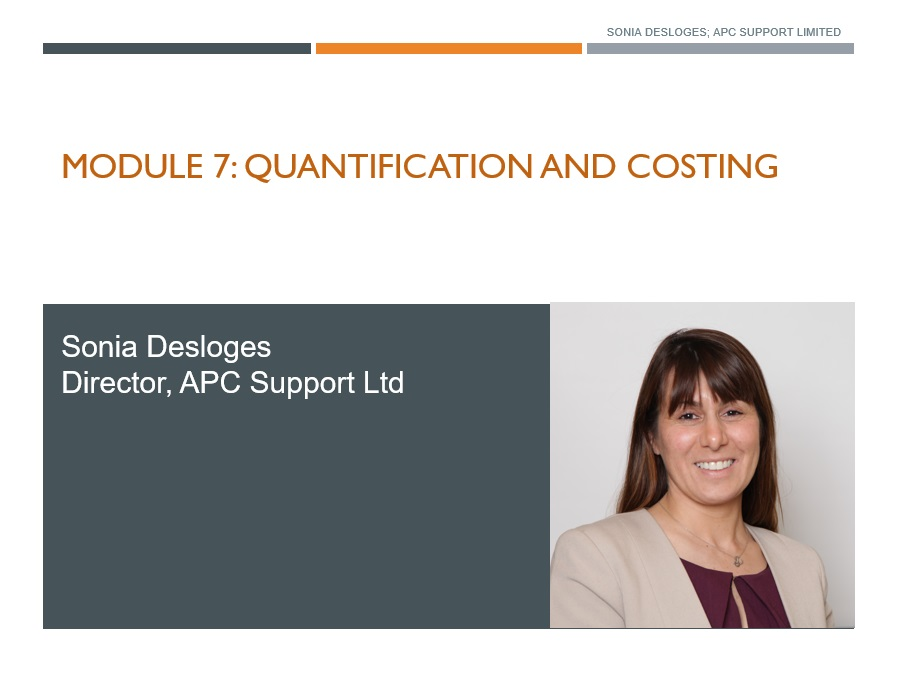Quantification and Costing