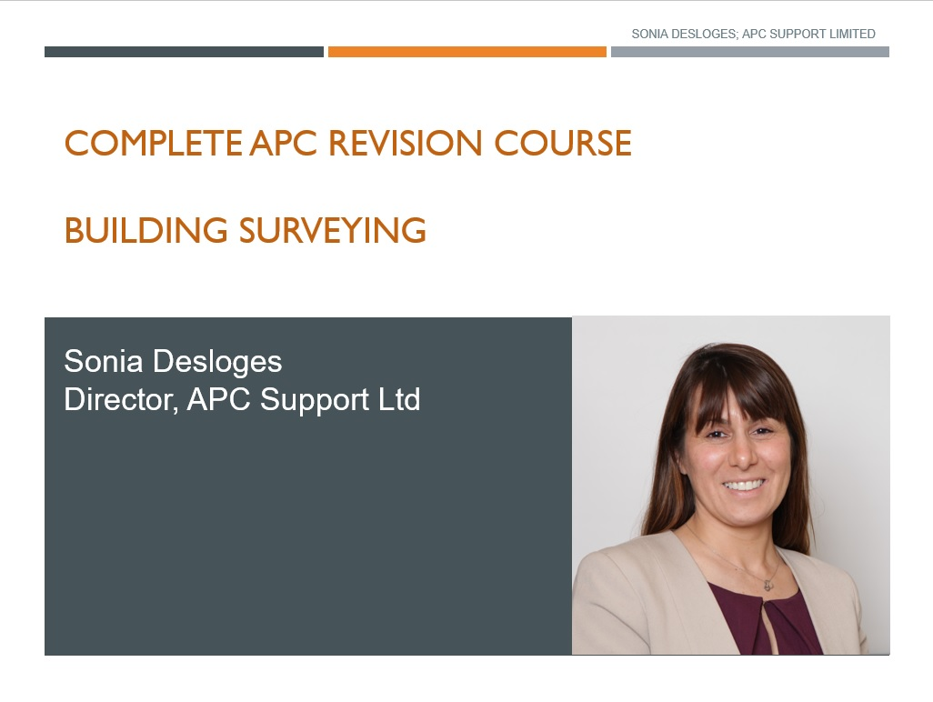 APC Building Surveying Revision
