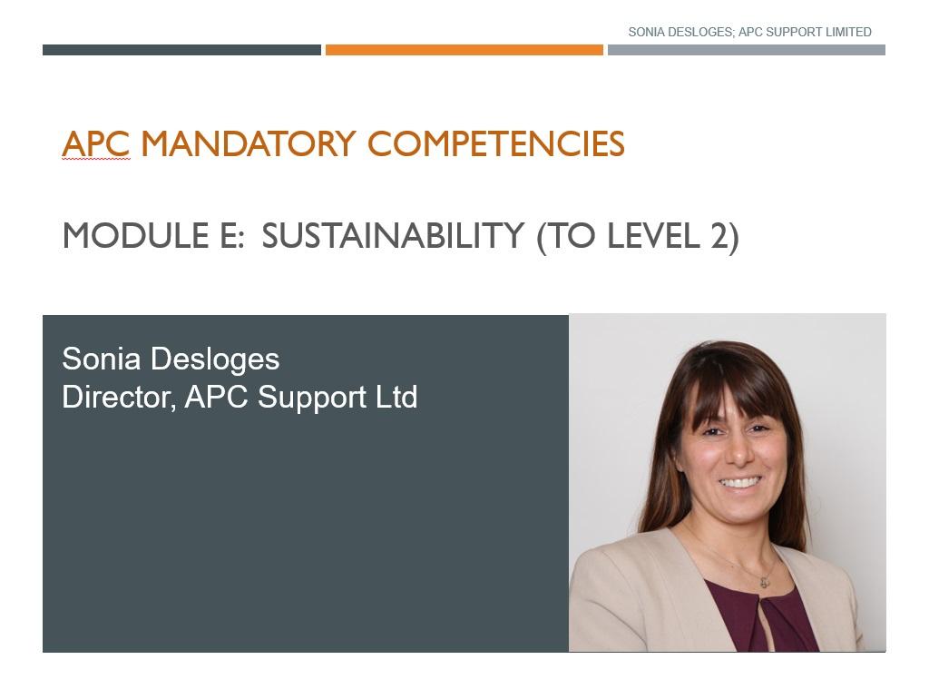 APC Sustainability