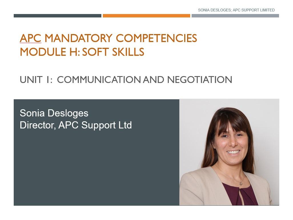 Communication Negotiation Teamworking