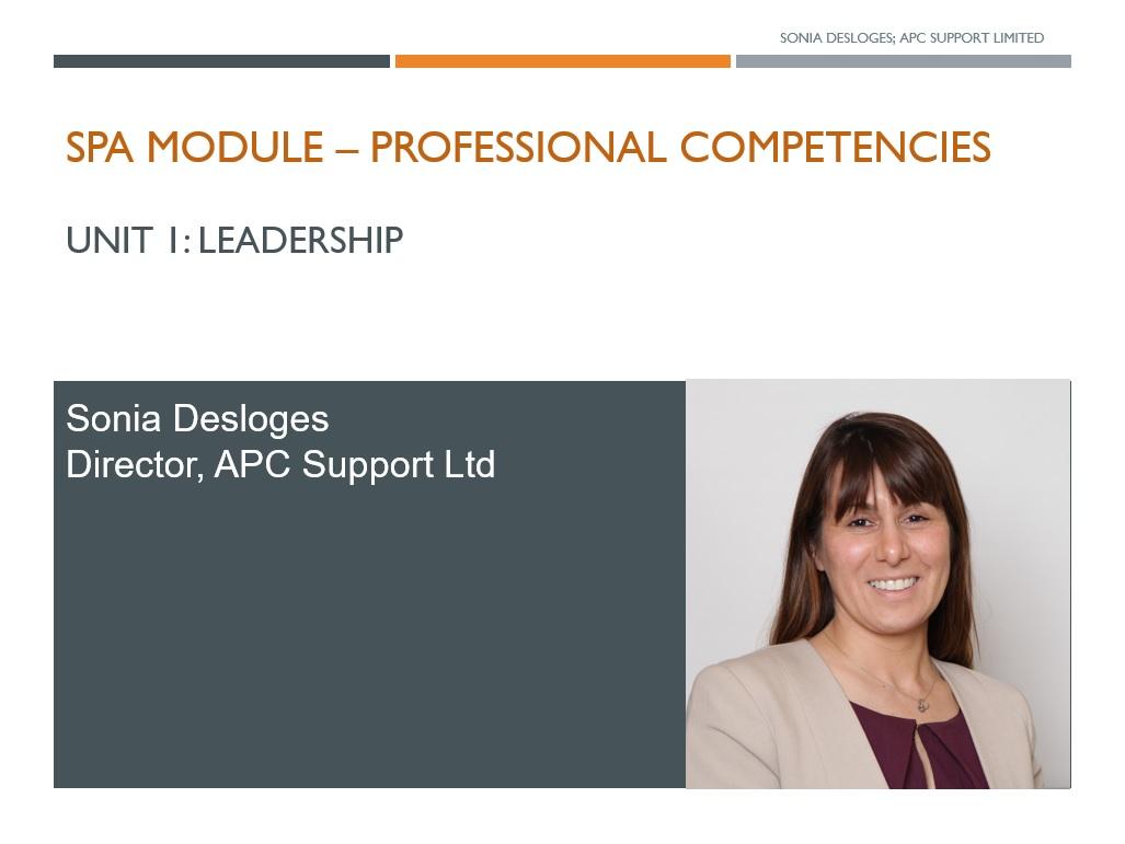 SPA Professional Competencies