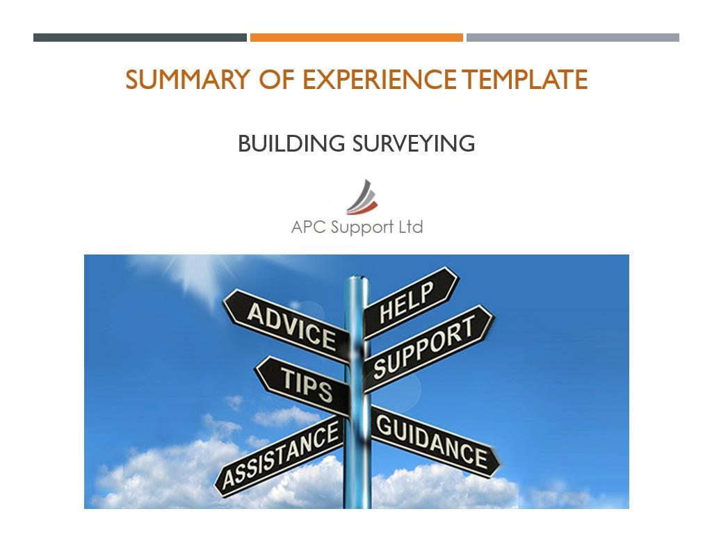 Summary of Experience