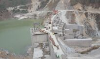 The Bichom Dam of the Kameng hydroelectric power project in Arunachal Pradesh