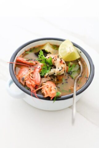 Receta de gambas al curry saludables nutritionist Valencia