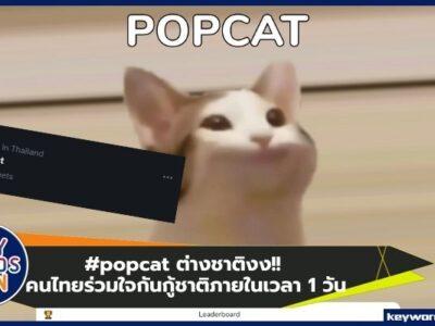 #popcat คนไทยร่วมใจกันกู้ชาติภายในเวลา 1 วัน