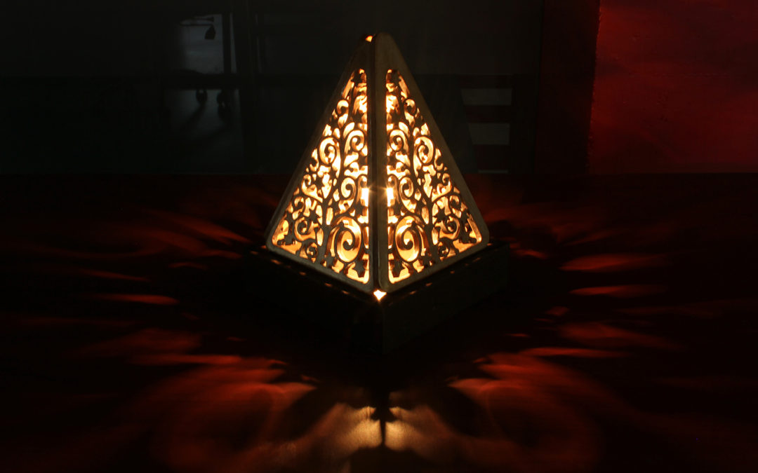 Pyramid  lamp (side view)