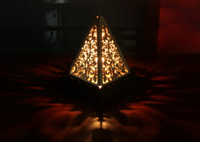 Pyramid Lamp Side View