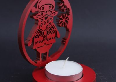 Santa T-Light Candle