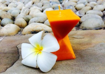Roshan Candle with Flower