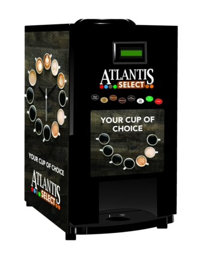 Atlantis Select Hot Beverage Recipe Machine for Black Coffee, Cafe Latte, Cappuccino, Macaccino, Hot Chocolate, Hot Milk and Tea