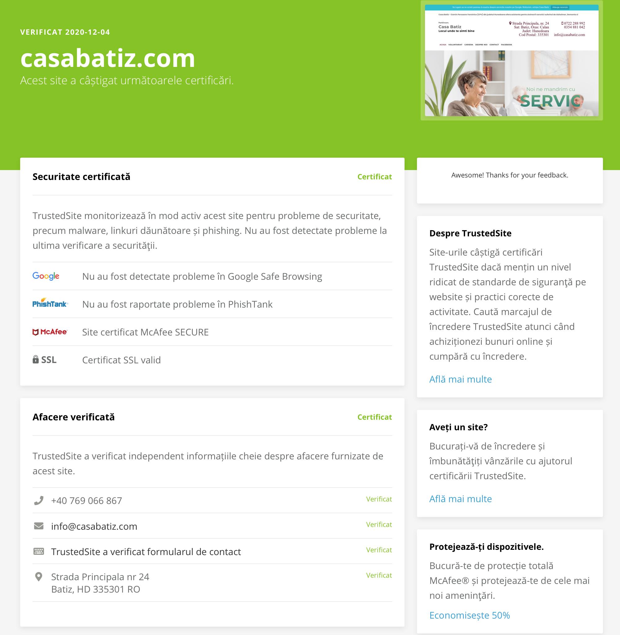 Casa Batiz - TrustedSite