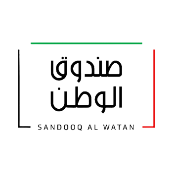 Sandooq Al Watan logo on a white background