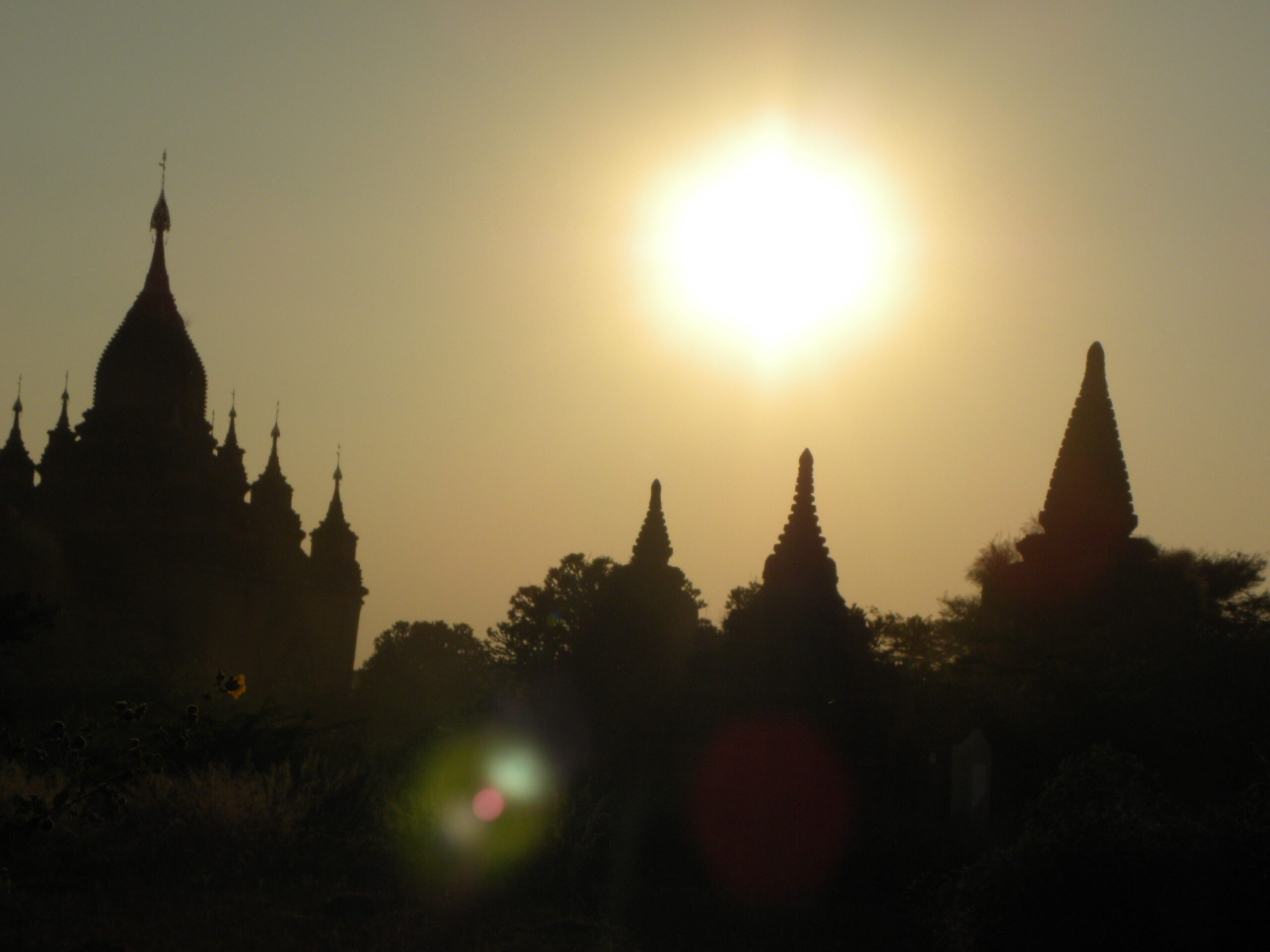 myanmar landscape of pagodas shows the lair