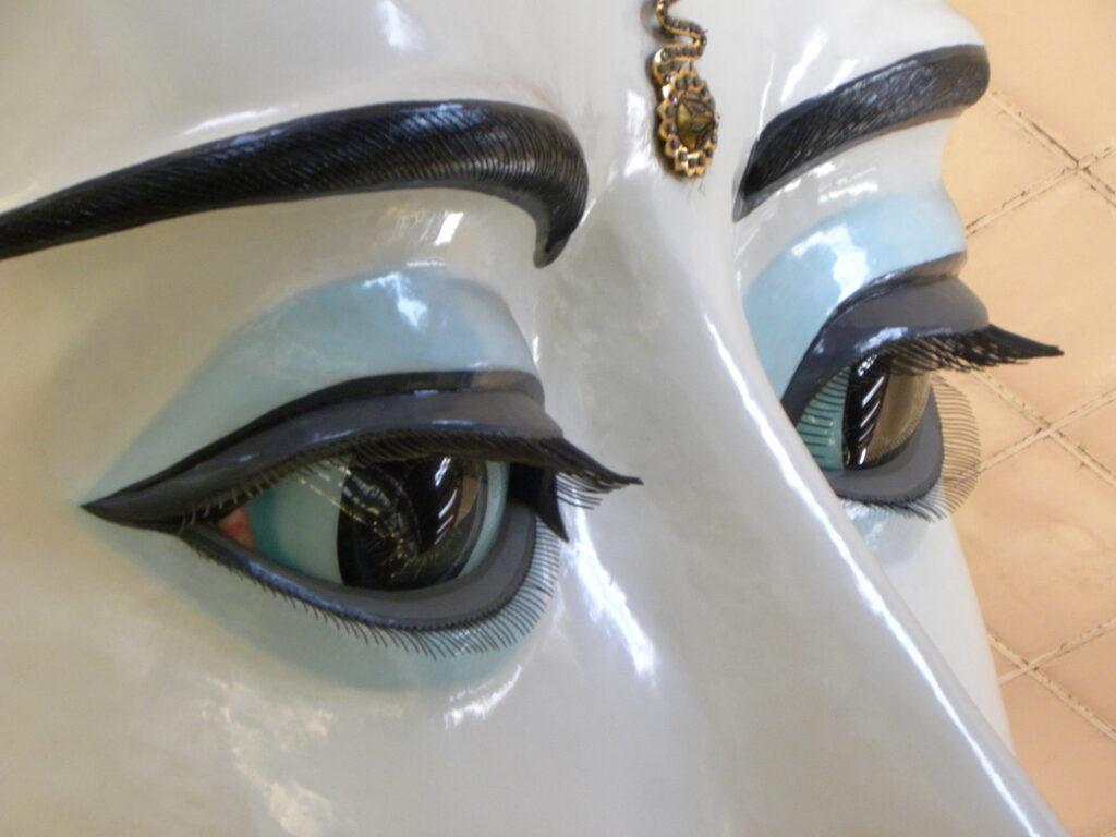 Burmese Buddha staring eyes