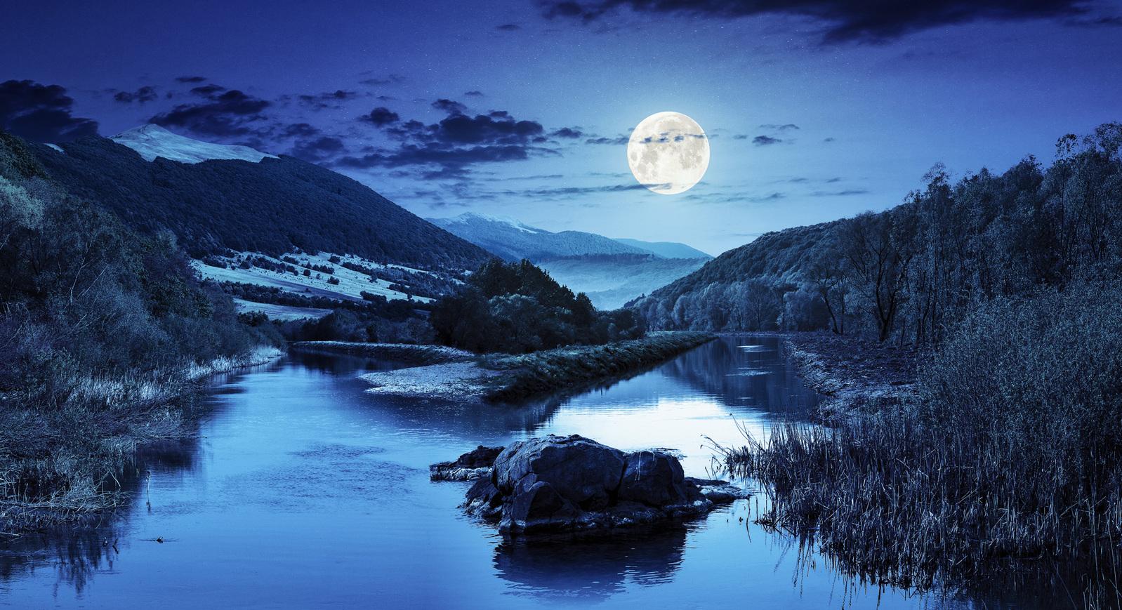 blue moon moonscape