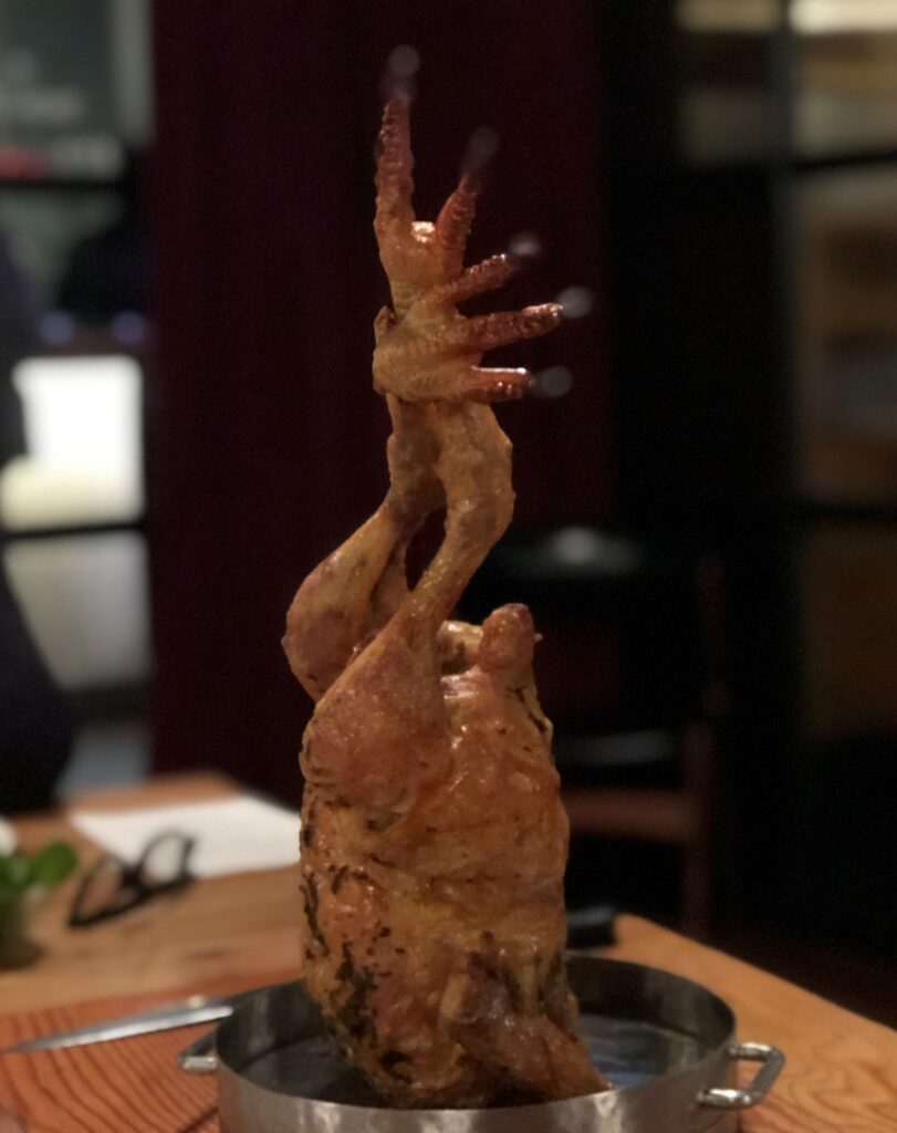 roast chicken at Hixters restaurant London