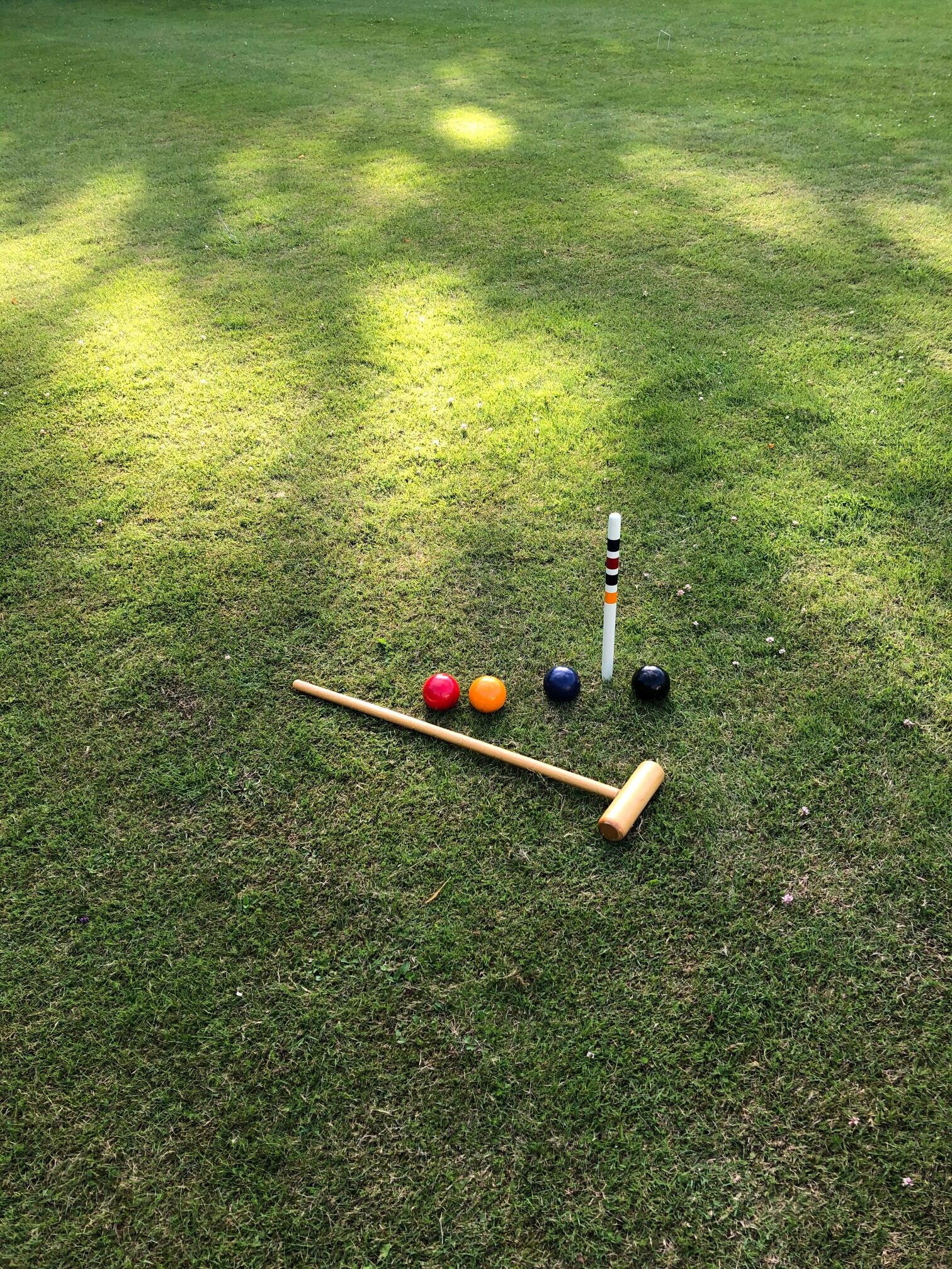 Croquet, anyone? Games and outdoor activity.