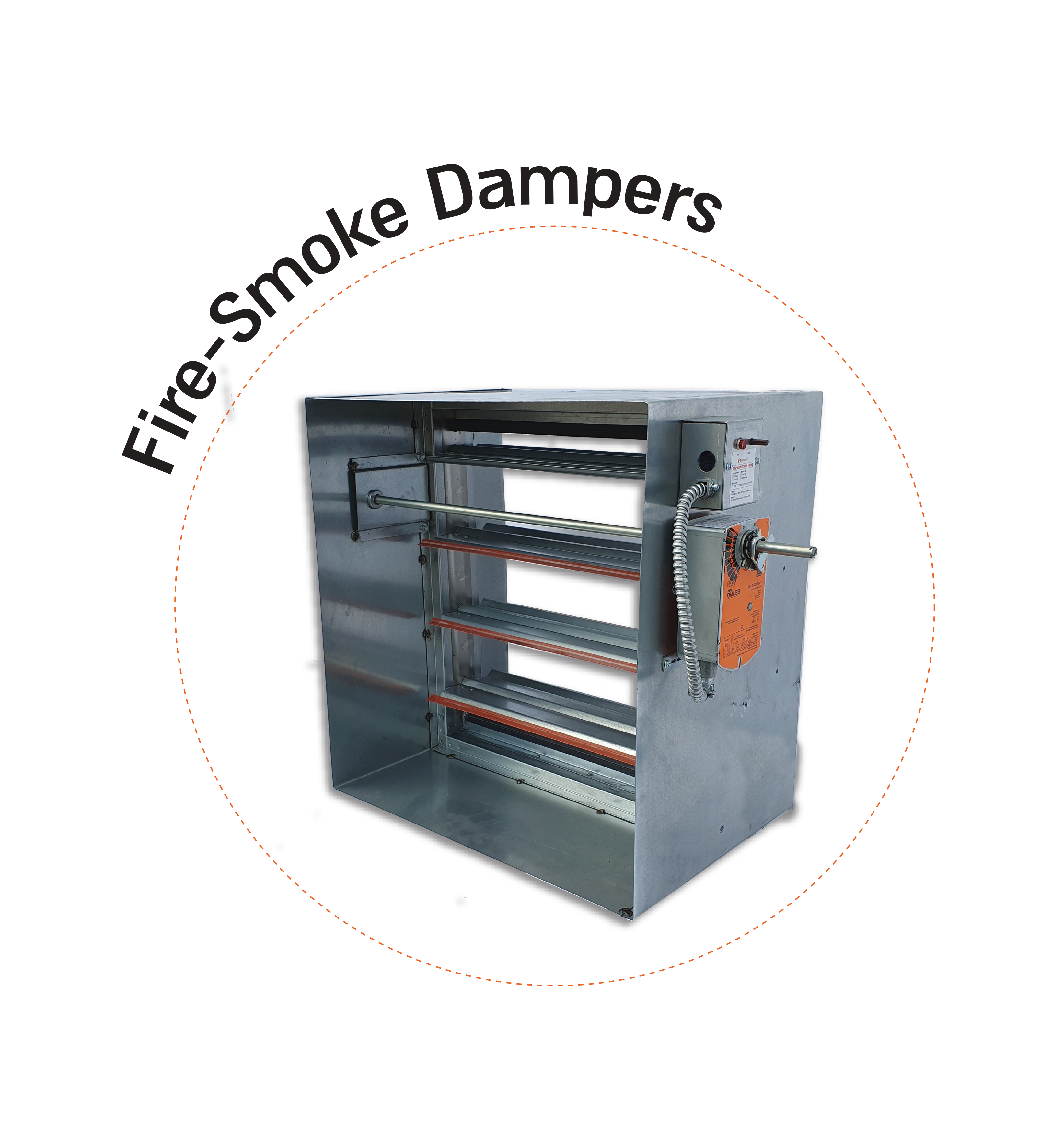EFS fire and smoke combination damper used in HVAC ducts, certified by UL to UL 555 and UL 555S