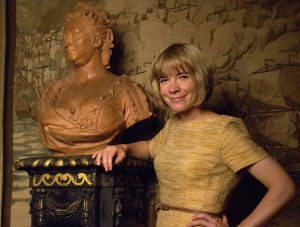 me with Queen Caroline bust