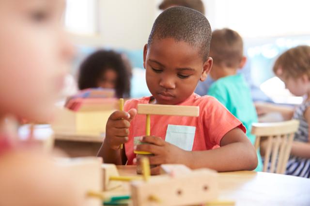 Montessori Nursery Learning blocks