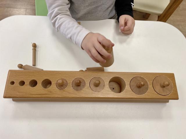 Montessori nursery shape sorting