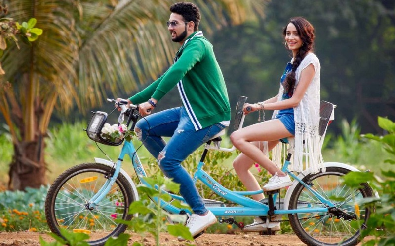 Cycling Image at resort near Pune for family get together.