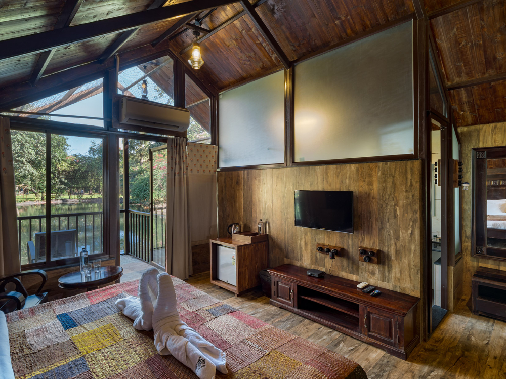 Inside image of Cottage at Jalsrushti - relaxing resorts near pune