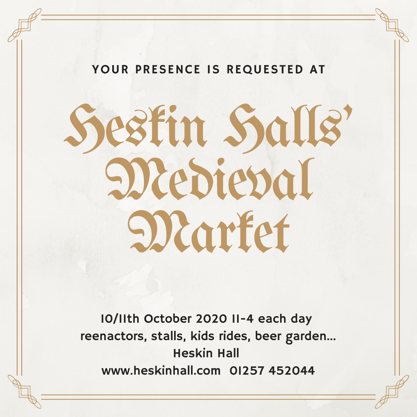 Medieval market Heskin Hall