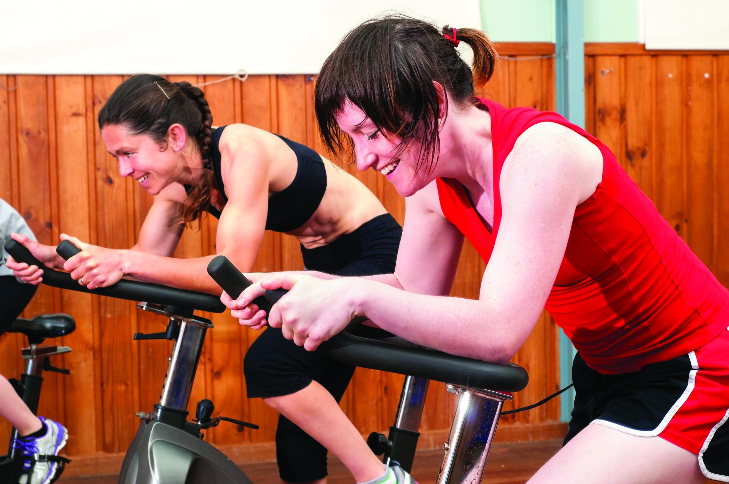 Women in exercising class