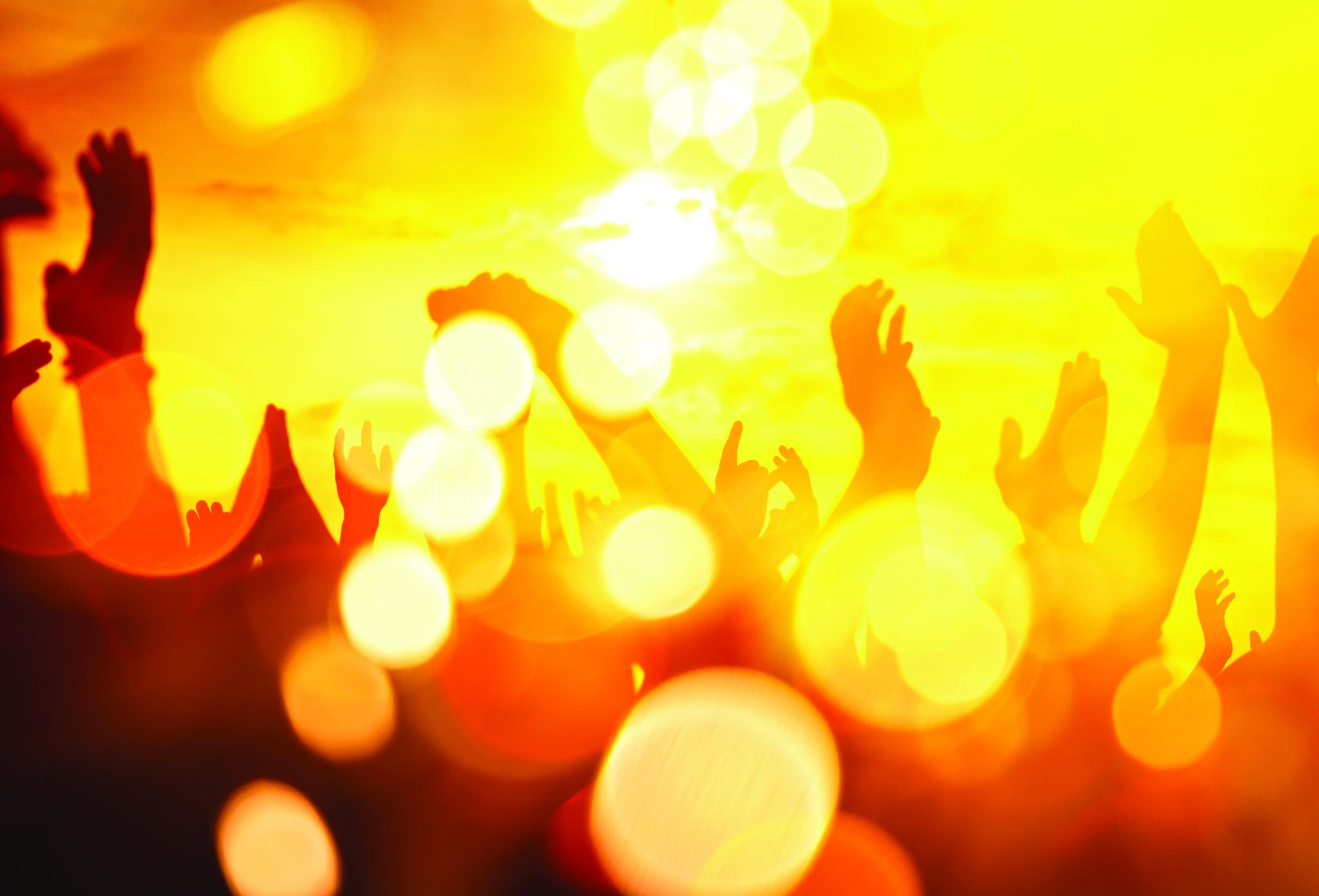 Hands Up, double exposure