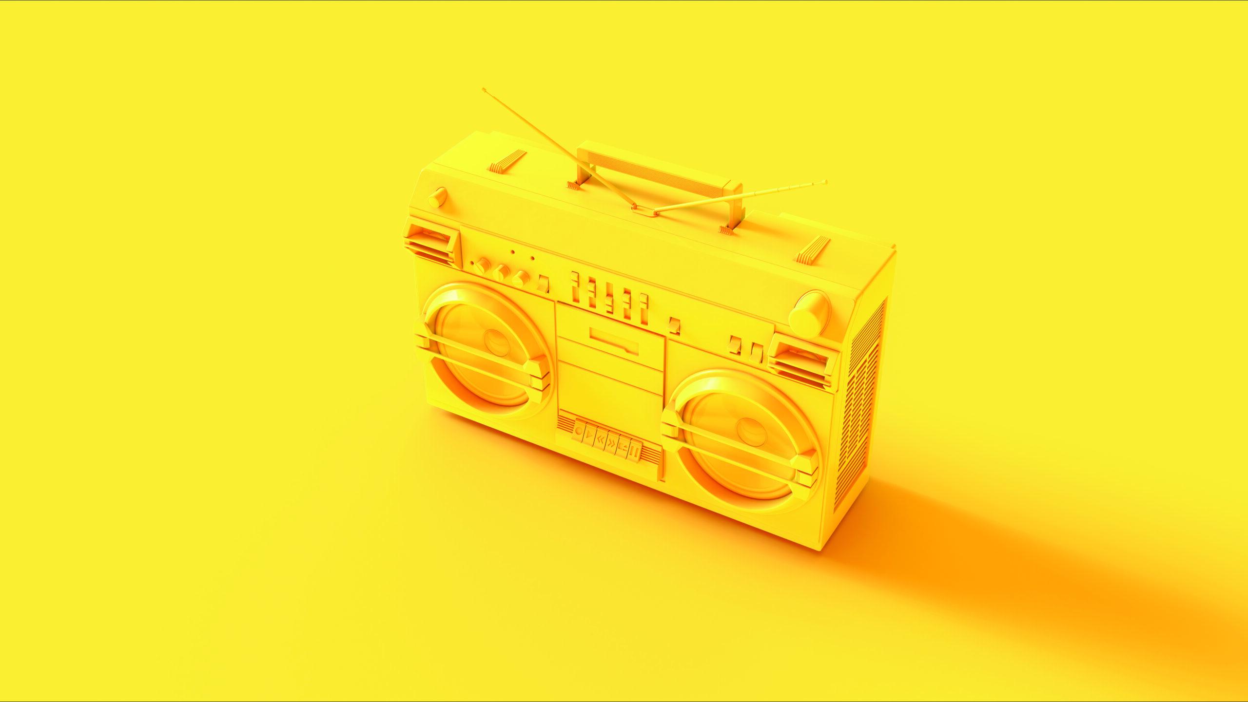 Yellow Boombox