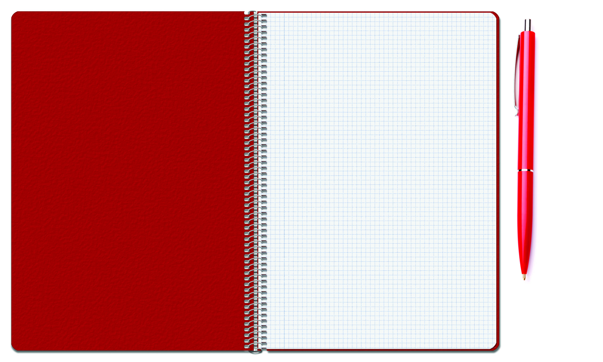 Red notebook & pen