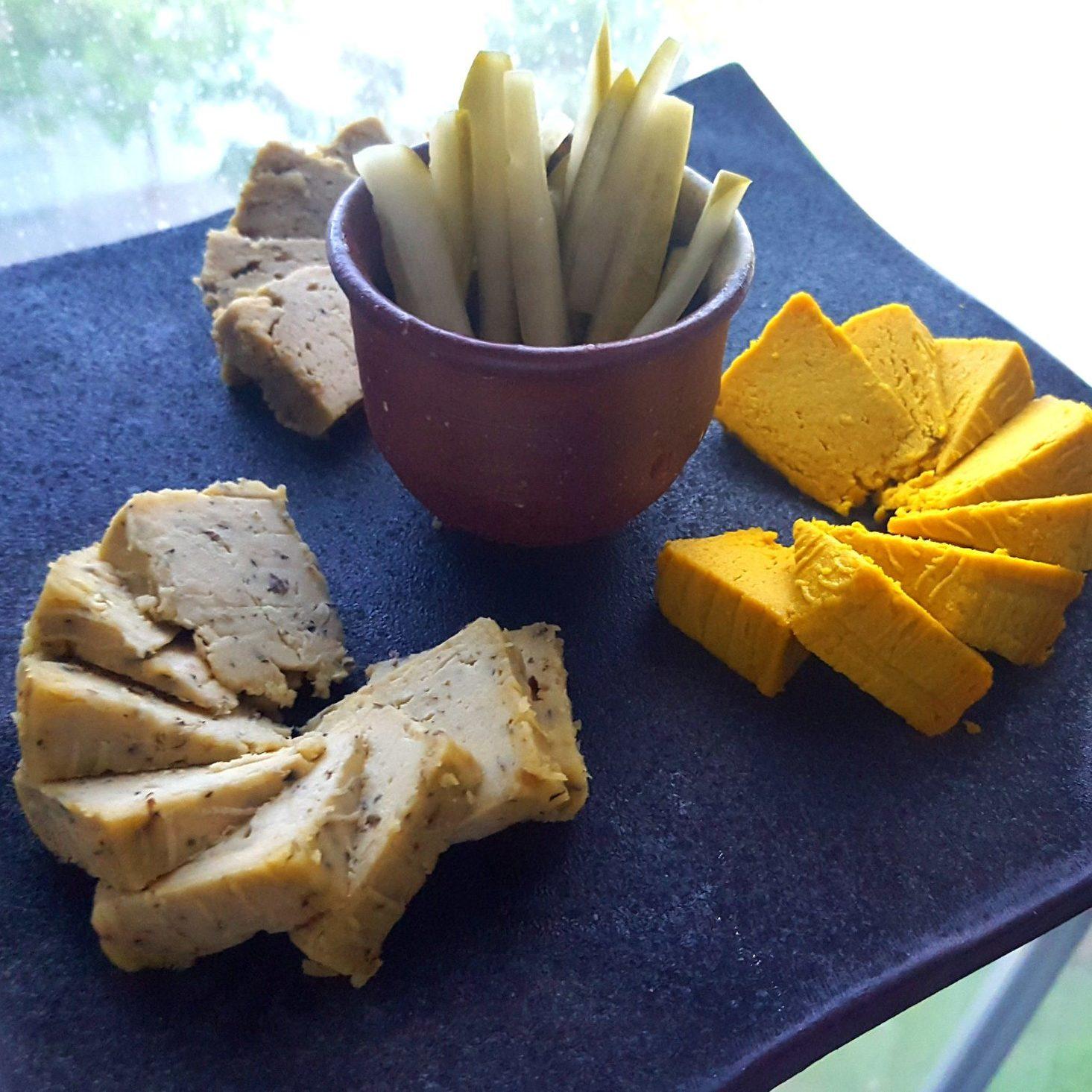 cashew cheese, kroodi cheese platter, vegan cheese