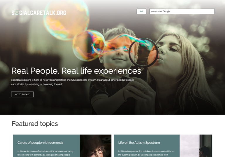 Social Care Talk home page