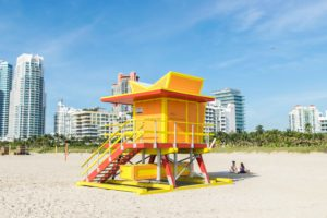 Rosie Andre. Travel Blog. Miami Beach Lifeguard Towers. USA. (Miami, Florida, wanderlust, travel, explore, globe, world, earth)