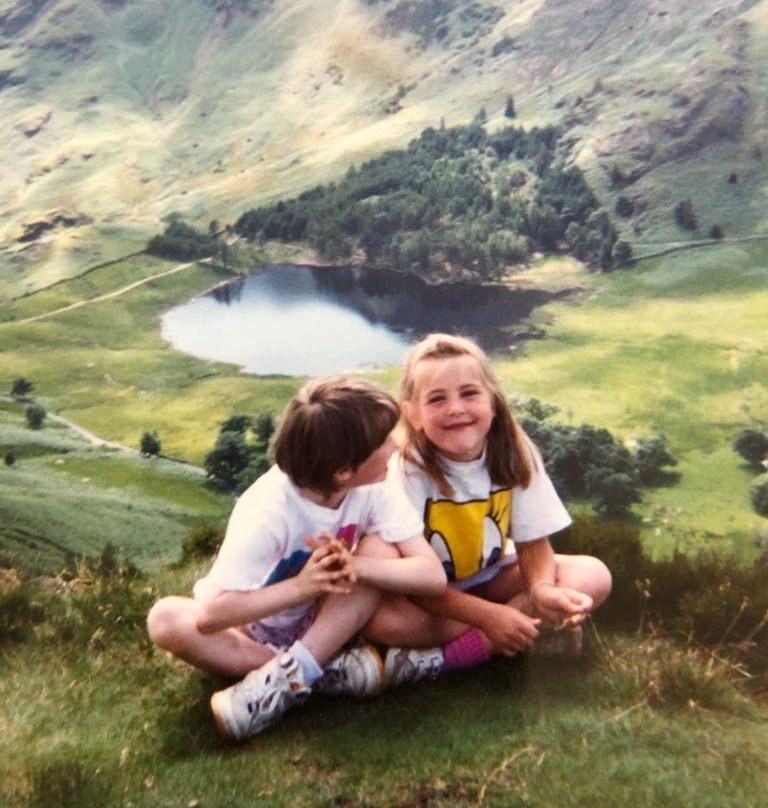Me (right) and my best friend Ruth (left) in the Lake District as children